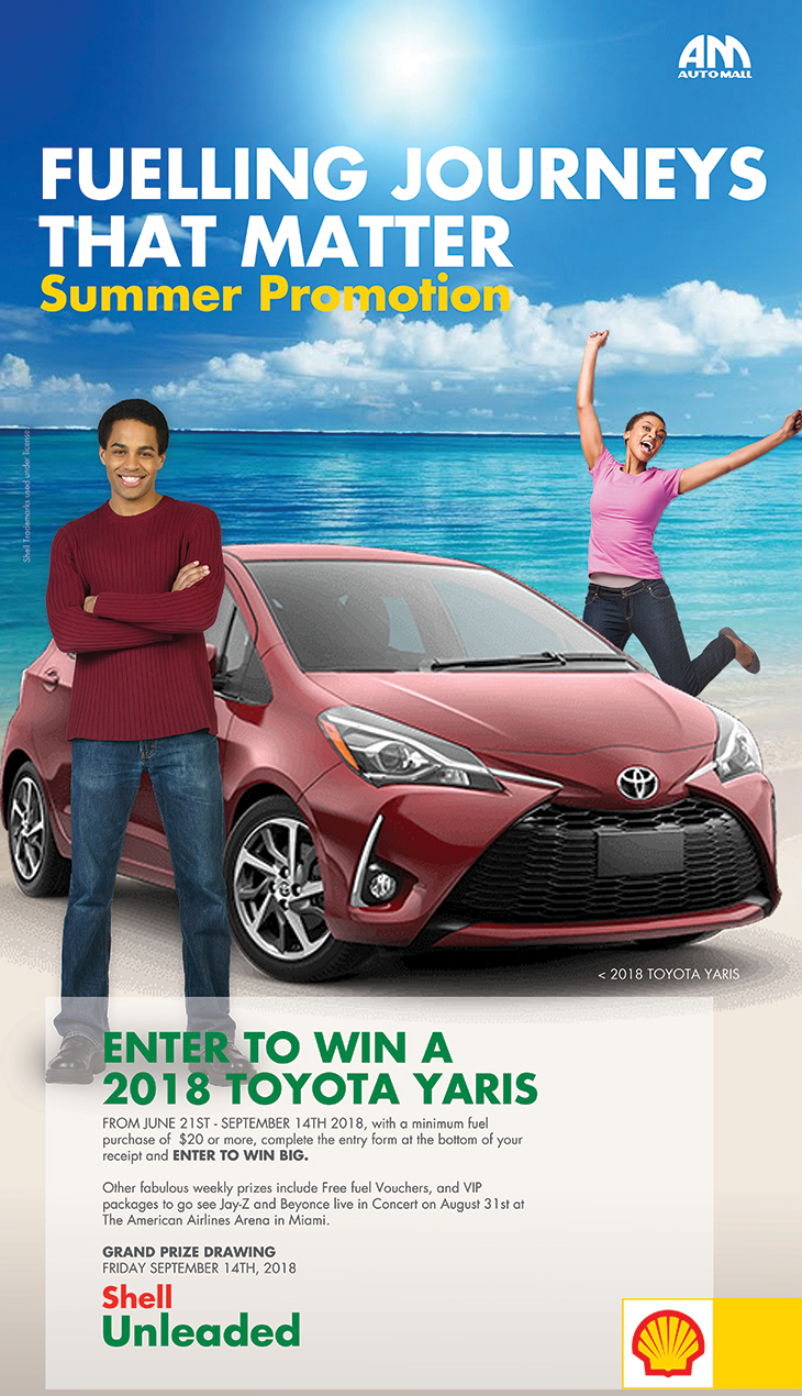 ENTER TO WIN A 2018 TOYOTA YARIS