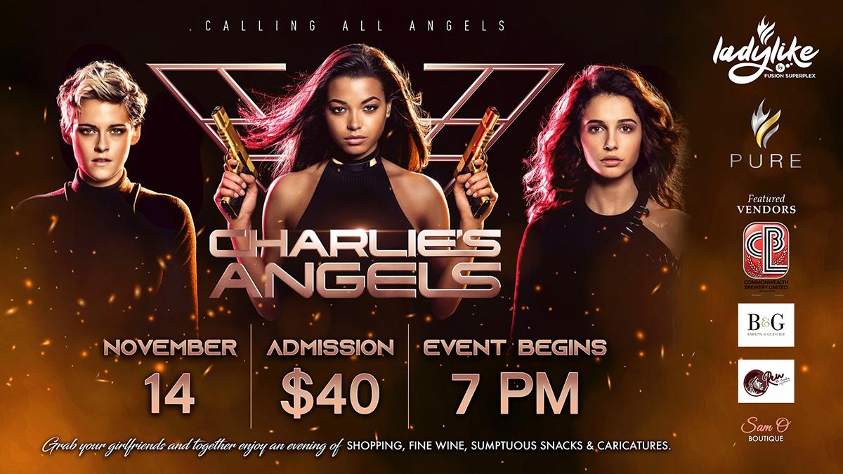 Join us Thursday, November 14th for #LadyLike - Charlie's Angels
