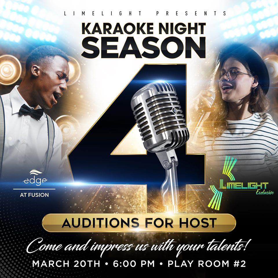 Want to be our next Karaoke Host? Here is your chance!!! at FUSION SUPERPLEX