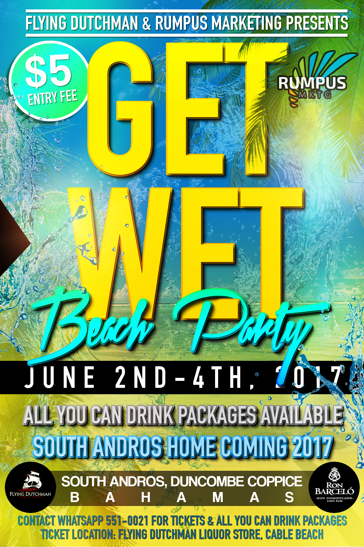 South Andros Homecoming GET WET Beach Party