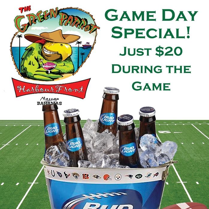 Game Day Specials at Green Parrot