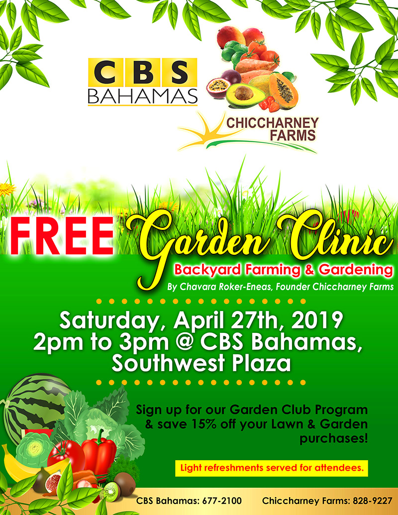 FREE Garden Clinic at CBS Bahamas