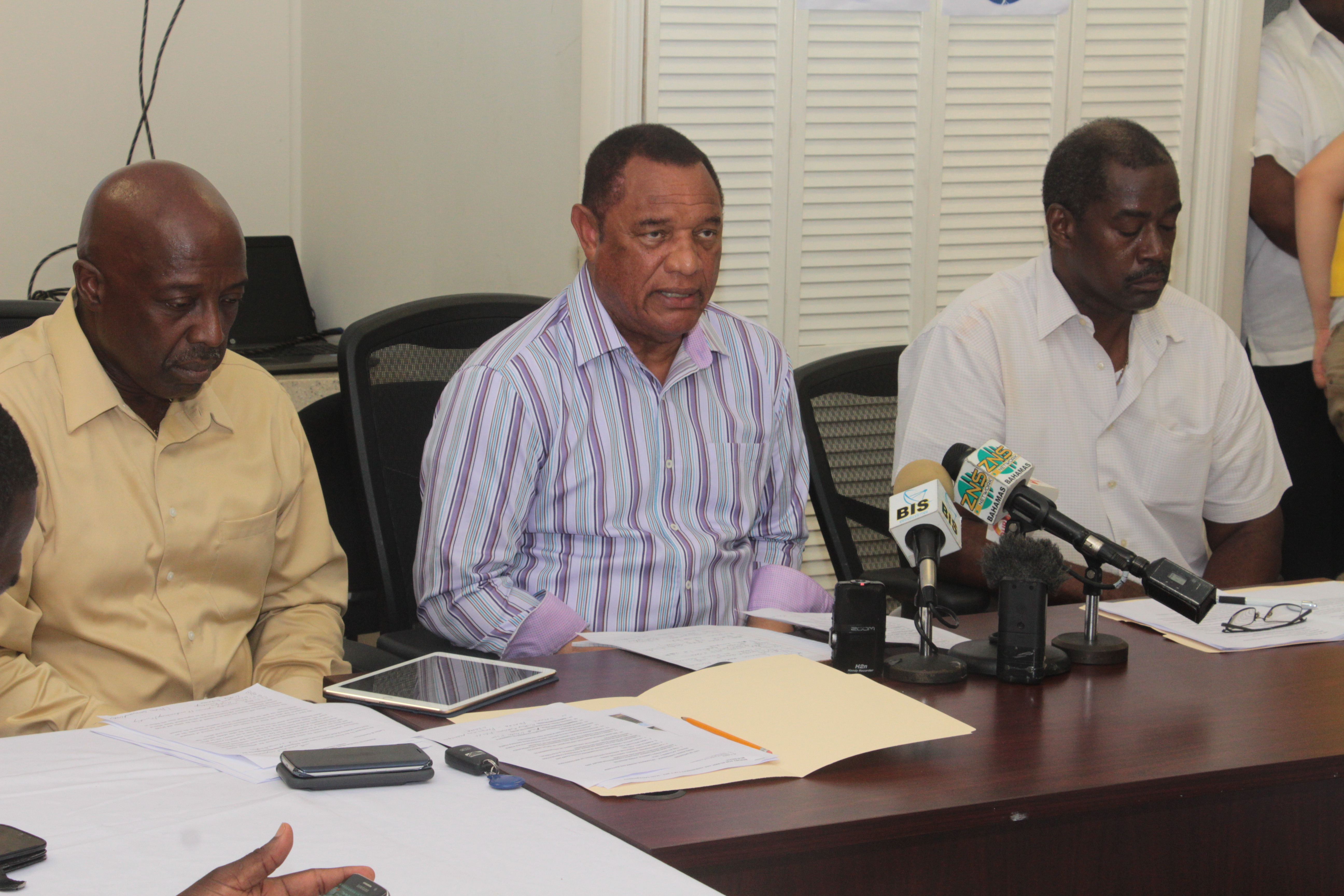 minister shane gibson is coordinator for hurricane matthew relief nassau the prime minister and minister of finance the rt hon perry christie the national emergency management agency and pertinent