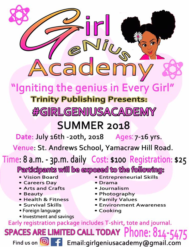Girl Genius Summer Academy 2018 Presented by Trinity Publishing