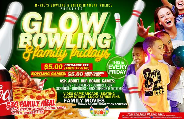 Glow Bowling Family Fridays @ Marios