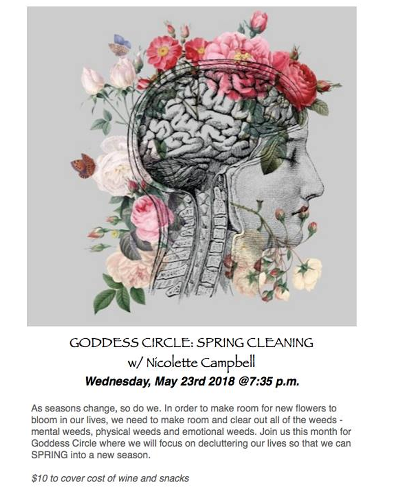 Goddess Circle: Spring Cleaning Hosted by Studio Ohana