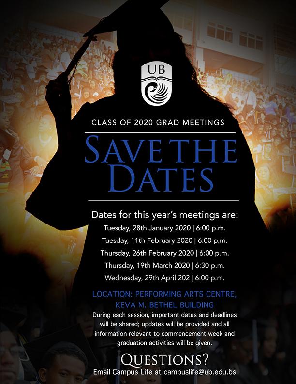 University of The Bahamas Class Of 2020 Grad Meetings