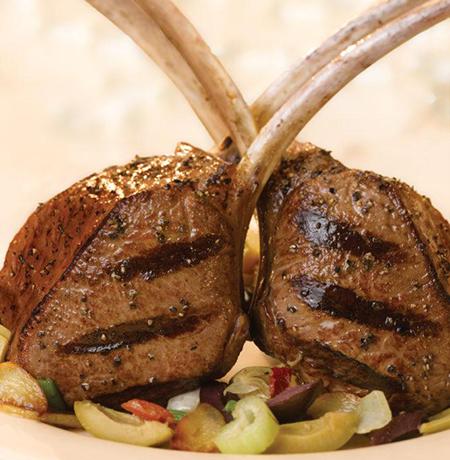 BFS Grilled Rib Chop With Savory Artichoke Tapenade