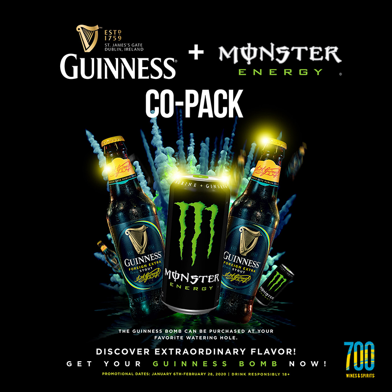Guinness and Monster Co-Pack