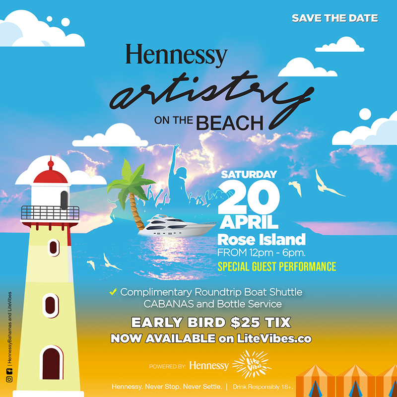 ALL BOATS lead to Rose Island on Saturday, April 20 for Hennessy Artistry on the Beach!