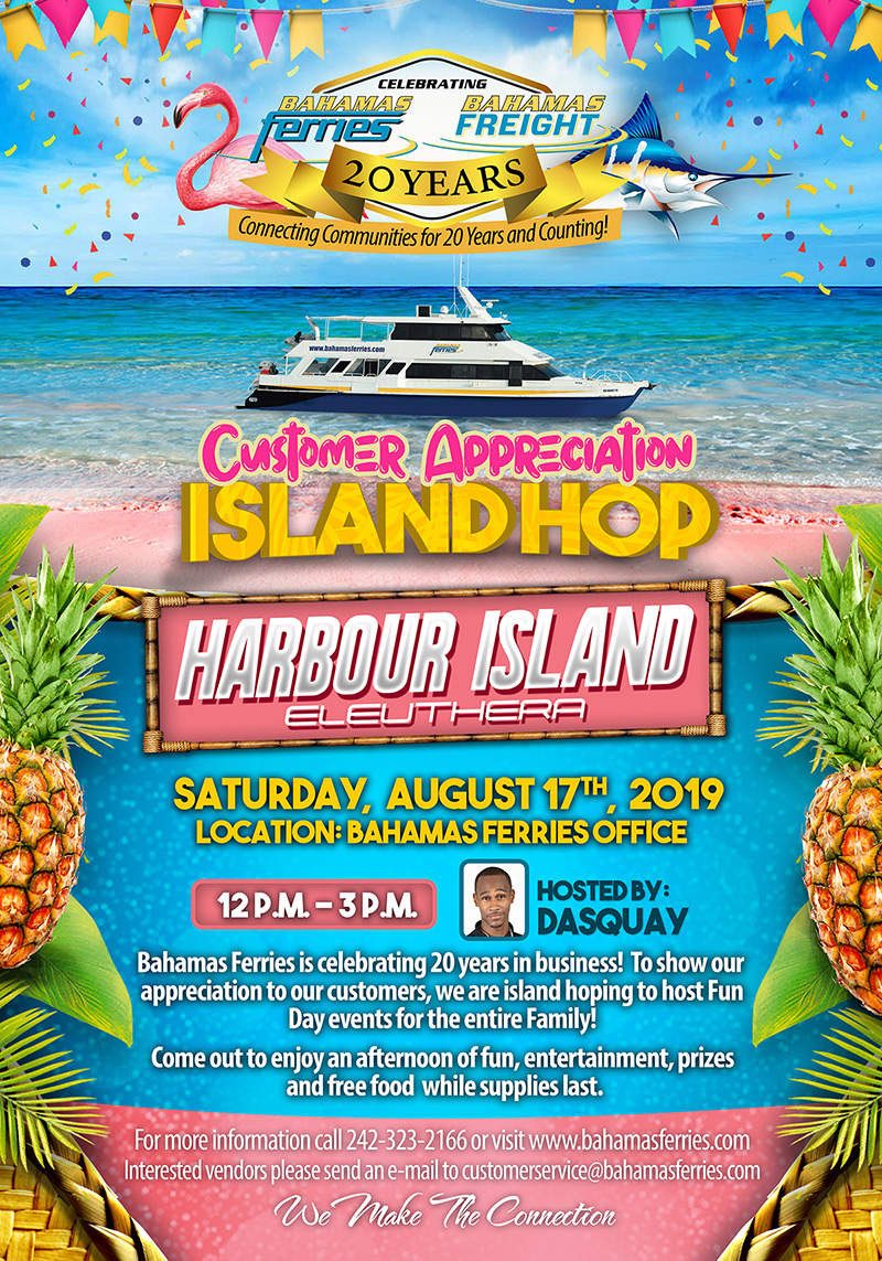Customer Appreciation Island Hop is Harbour Island