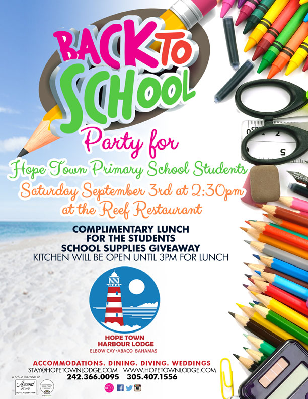 Back to School Party for Hope Town Primary School