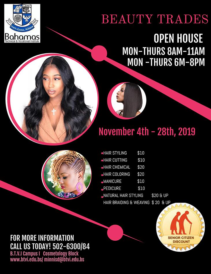 Bahamas Technical & Vocational Institute (BTVI) Beauty Trades