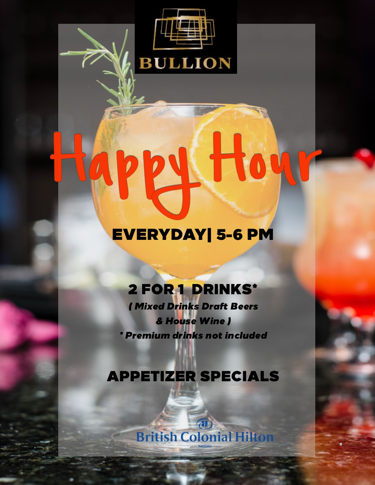 Happy Hour At Bullion, British Colonial Hilton