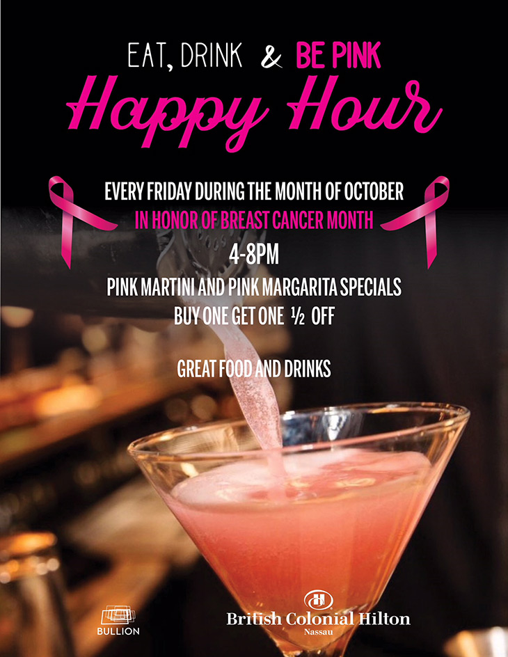 Eat, Drink and Be PINK Happy Hour
