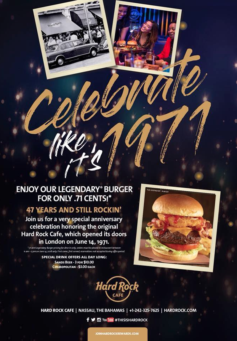 Hard Rock Cafe Nassau Special Anniversary
