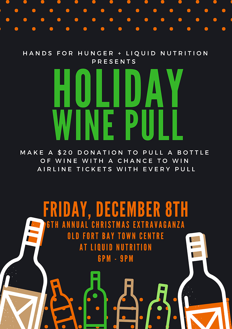 Wine Pull At Christmas Extravaganza at Old Fort Bay