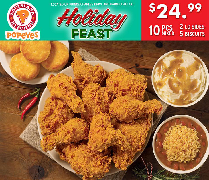 Popeyes NEW! Holiday Feast!