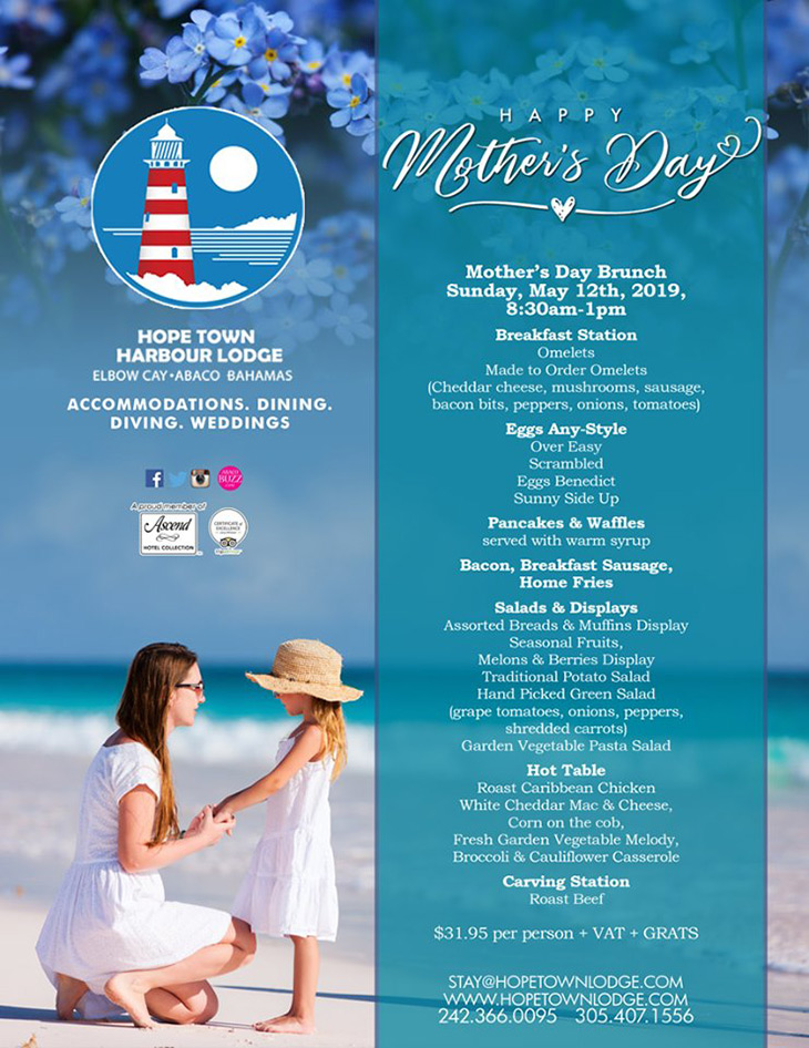 Mother's Day at Hope Town Harbour Lodge