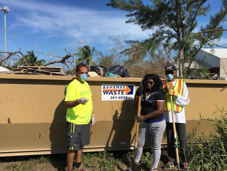 Voltar's Volunteers - Volunteers from the Voltar's World Service Club joined forces with Bahamas Waste and other partners to clean up communities in the Marshall road area.