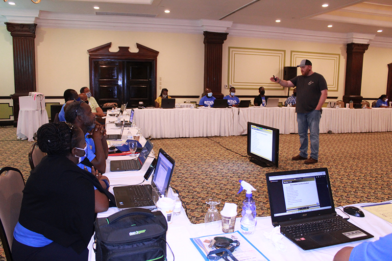 Over 50 persons participated in the workshop held at Breezes Bahamas Resort and virtually, including Ministry of Education teachers, industry professionals and BTVI staff and faculty.