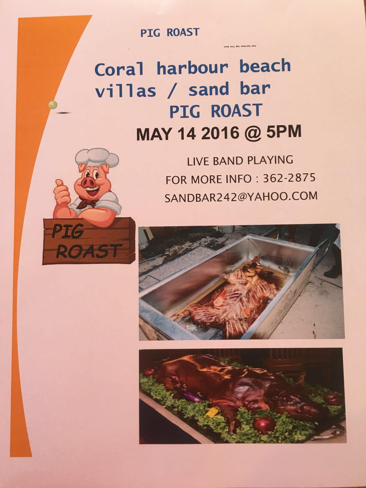 Pig Roast @ Coral Harbour Beach Villas