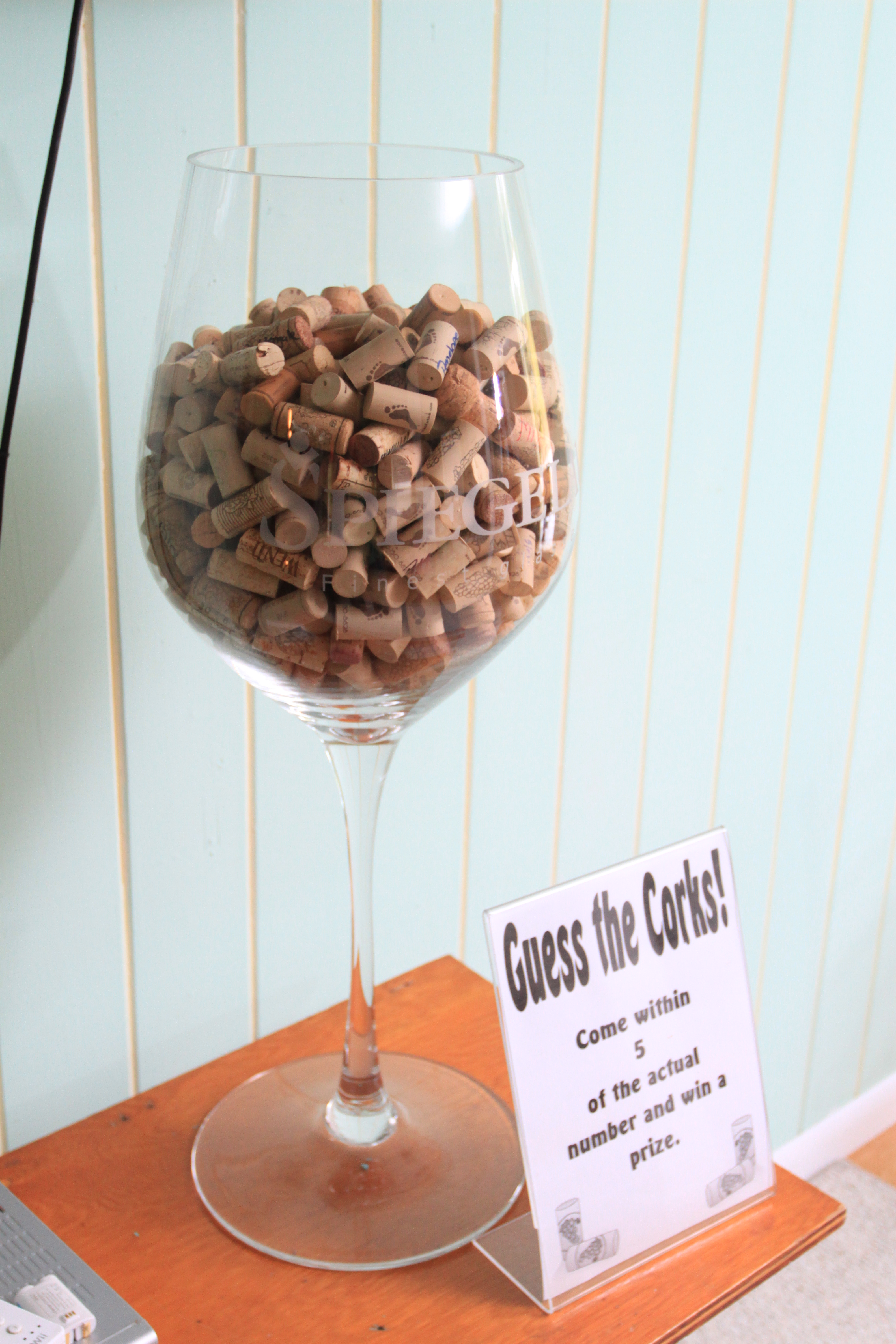 Guess the number of corks and win a prize! Photo by Stop Motion Productions.