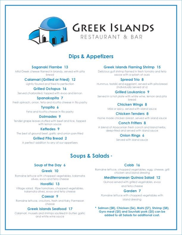 Greek Islands Restaurant And Bar Nassau Nassau