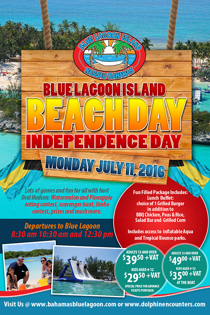 Blue Lagoon Island Beach Day Independence Day!