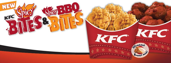 KFC New Spicy and BBQ Bites!