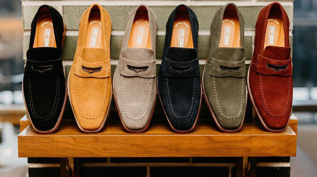 Shoes available at K.S. Moses.