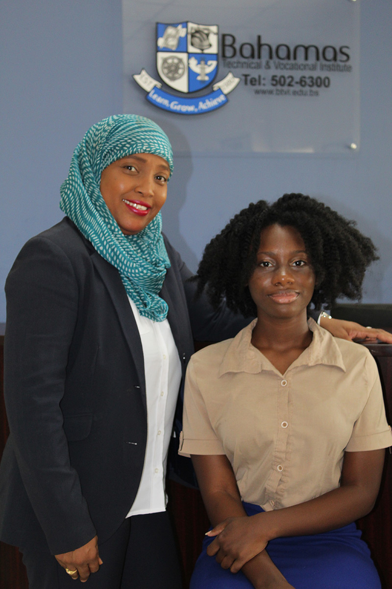 BTVI Chair of Business Studies and Entrepreneurship, Kerima Smith and Entrepreneurship student, Erin Whyley, who is scheduled to complete her studies in spring 2022.