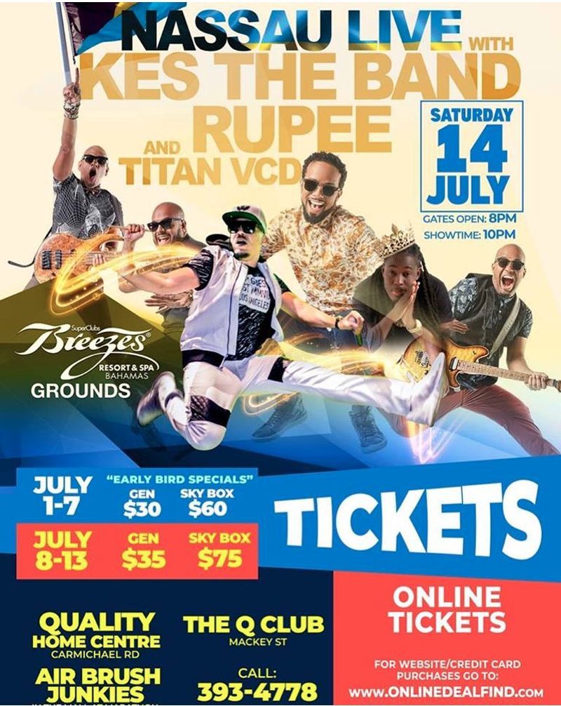 Nassau Live Kes and his band along with Rupee