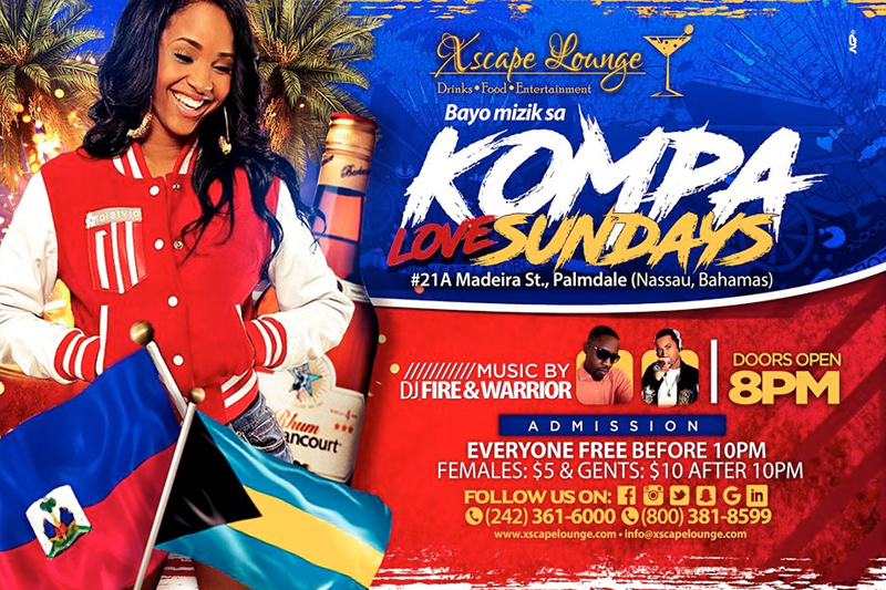 Kompa Love Sundays at Xscape Lounge