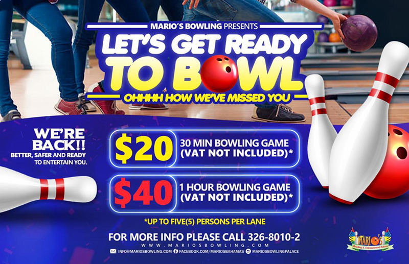 Let's Get Ready To Bowl At Marios Bowling & Family Entertainment Palace!