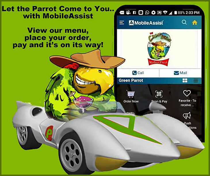 Ordering the Parrot just got easier... Green Parrot Harbour Front
