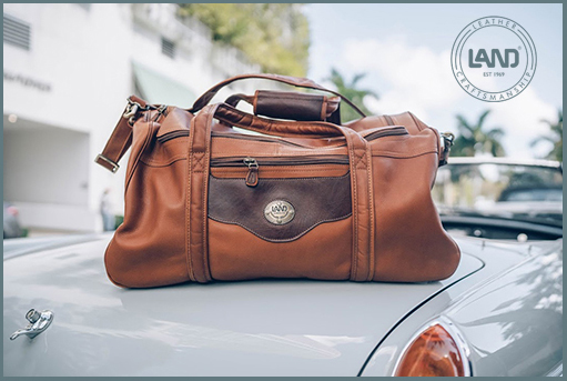 LAND - SANTA FE San Fran duffel for Dad At The Brass & Leather Shops.