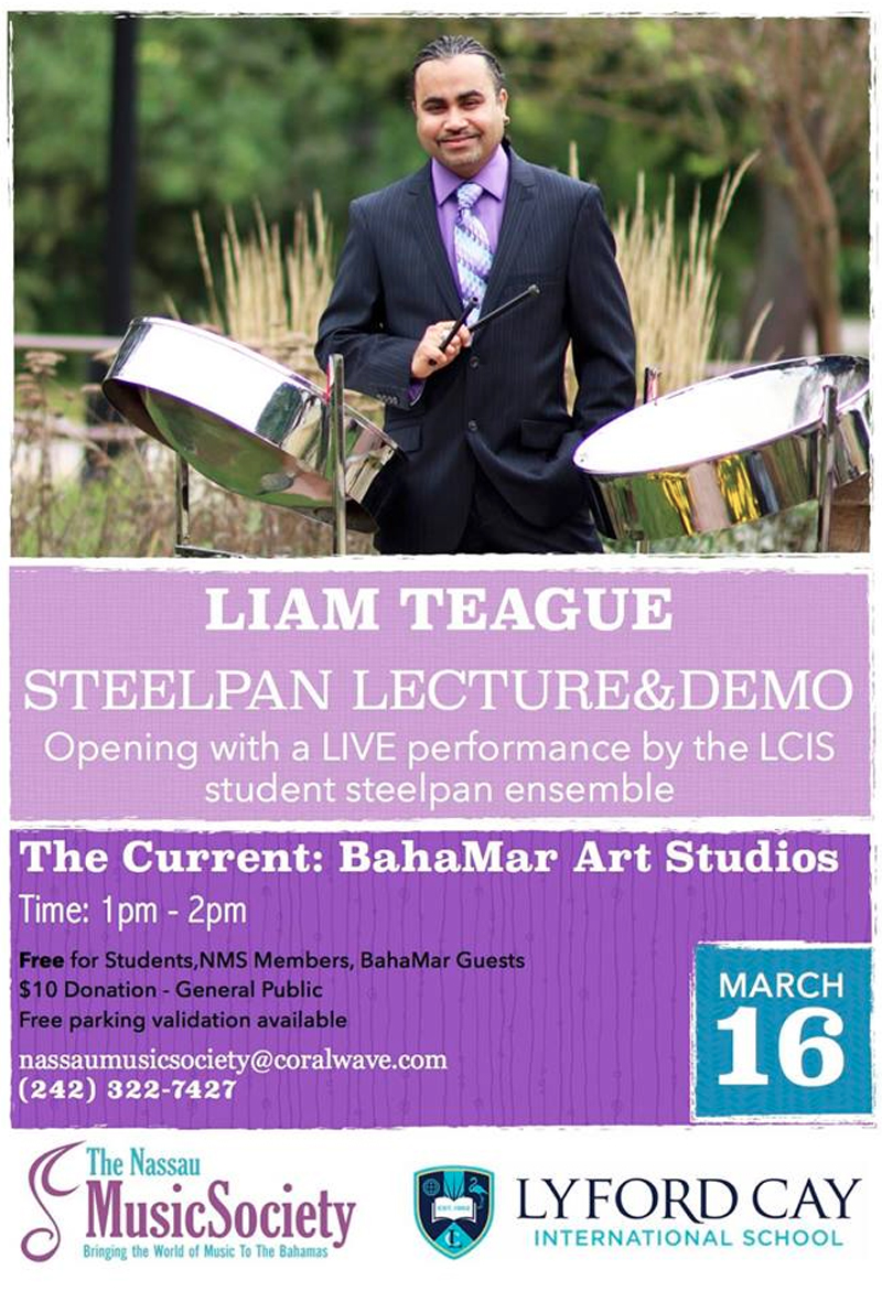 Masterclass- Liam Teague /Steel pan Hosted by The Nassau Music Society