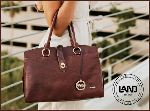 LAND - quality leather is always in style. Limited handbag # 33717