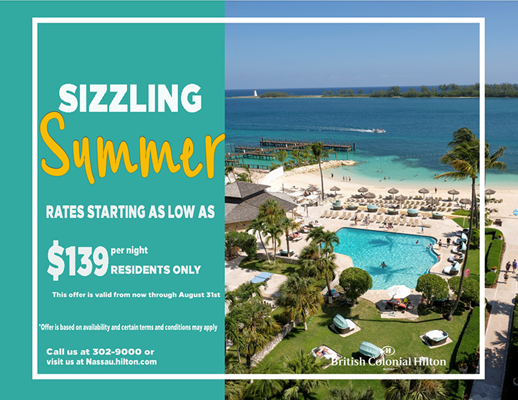 Sizzling Summer British Colonial Hilton Local Rates
