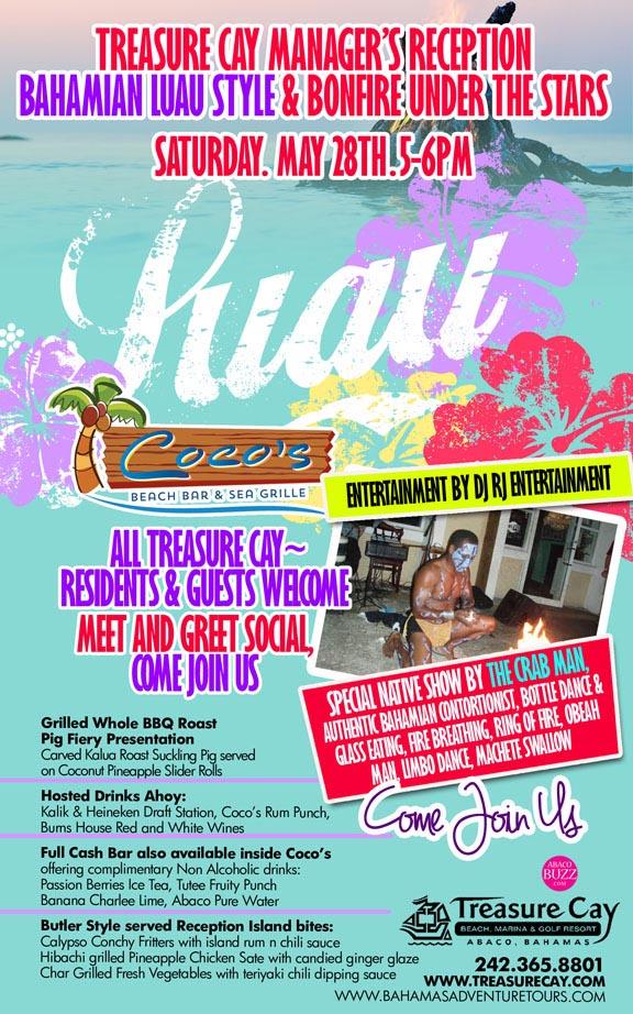 Treasure Cay Manager's Reception & Luau