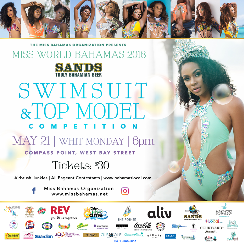 Miss World Bahamas 2018 - Swimsuit & Top Model Competition
