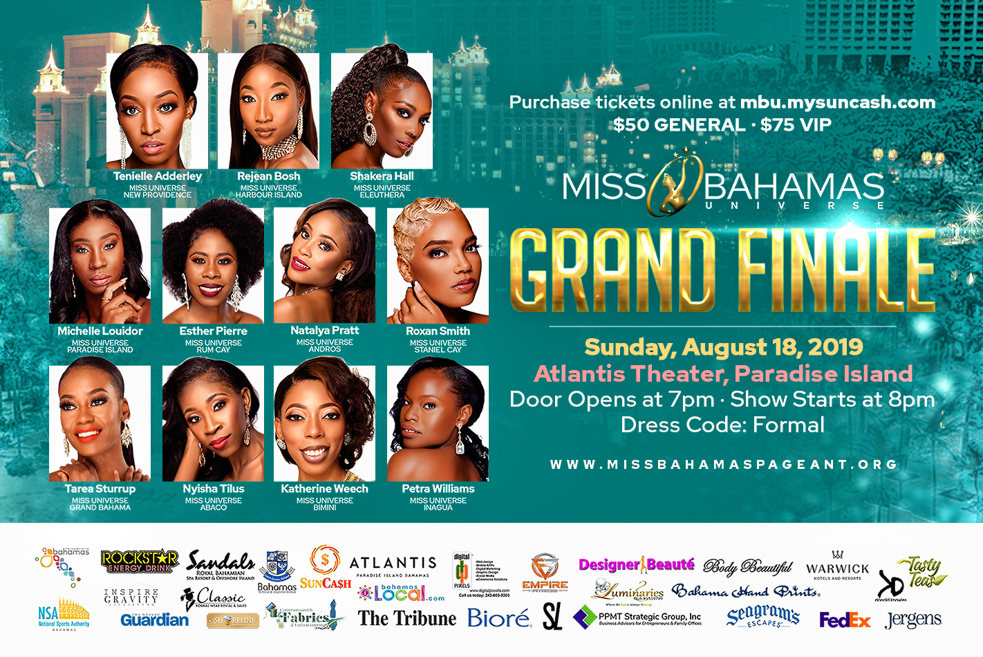 Miss Bahamas Universe Grand Finale