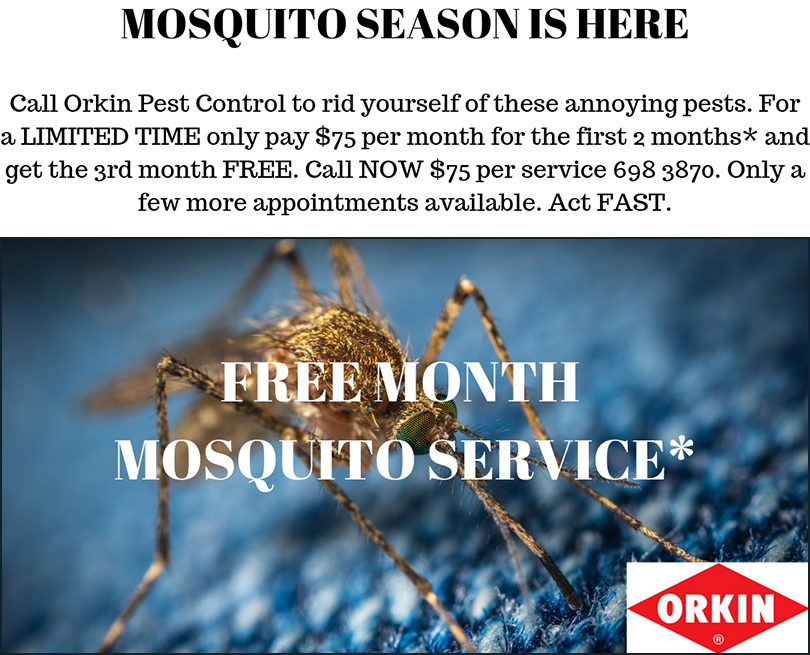 Orkin Bahamas FREE MONTH MOSQUITO SERVICE