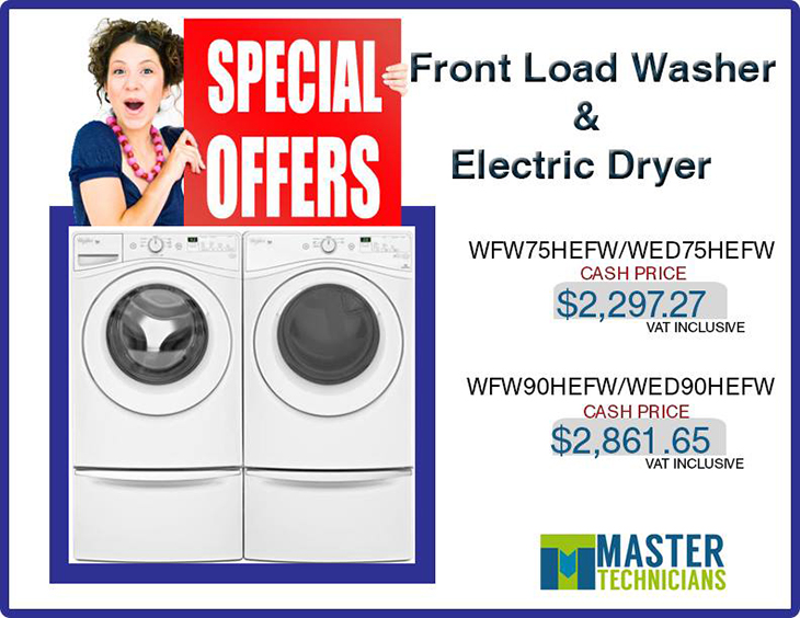 Special Offer! Make laundry day easy with high-quality machines from top brands!