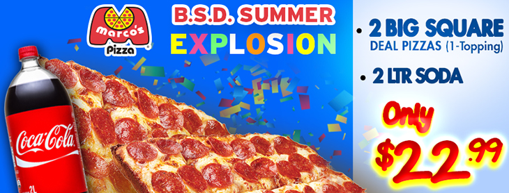 New Summer Explosion Deal at Marco's Pizza!
