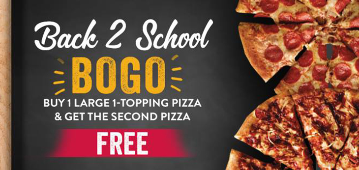 Treat your family to Marco's NEW Back To School BOGO special!