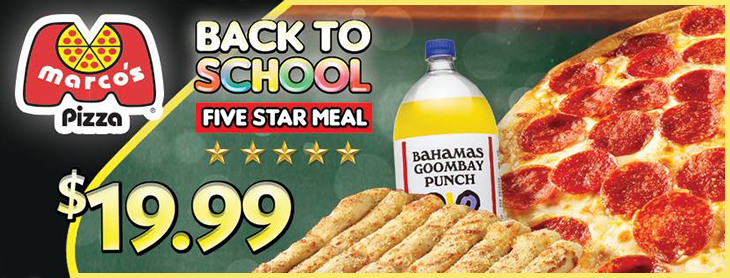 $19.99 - Marco's NEW Back To School Five Star Meal at Marco's Pizza!
