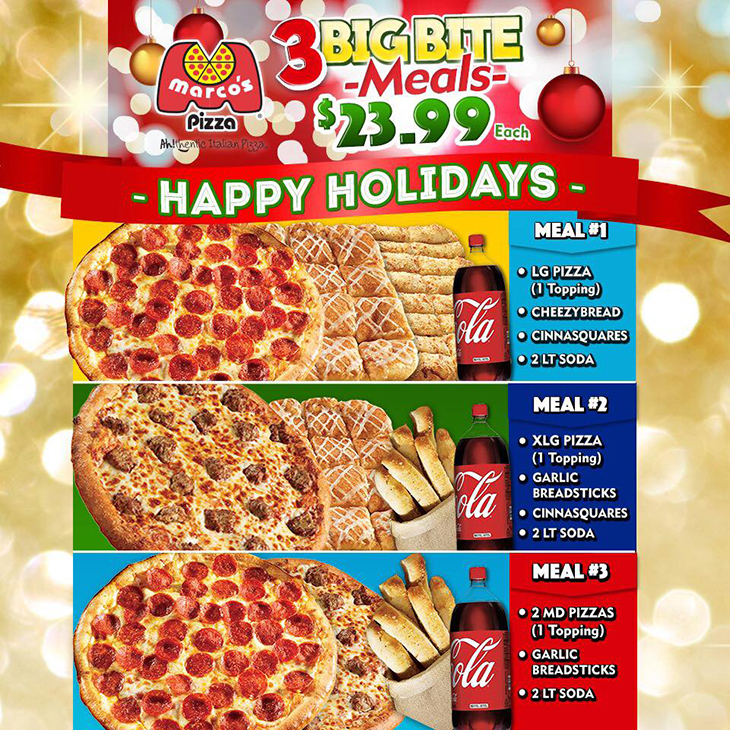 Marcos Holiday Pizza Big Bite Meals