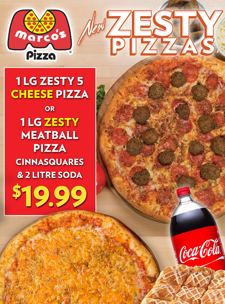 New Zesty Pizza at Marco's Pizza!